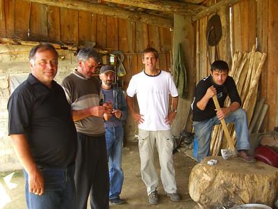 Men in the Barn - Svaneti, Georgia