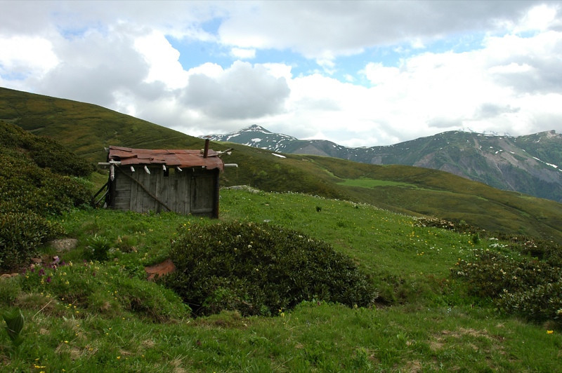 House in the Field - Svaneti, Georgia