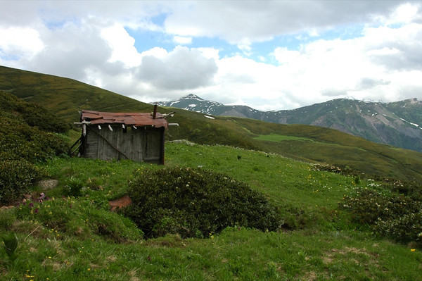 House in the Field - Svaneti, Georgia