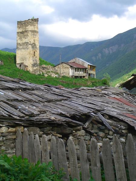 The Ruins and a Home - Svaneti, Georgia