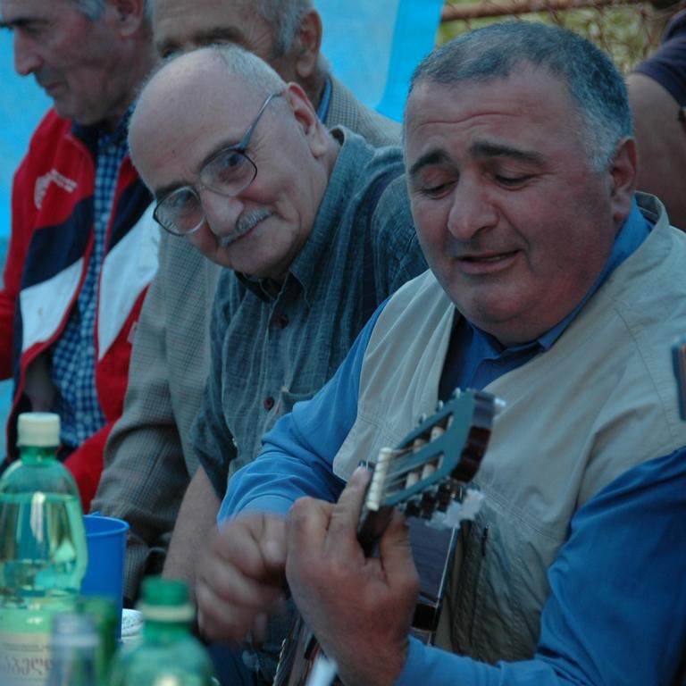 Man with a Guitar - Svaneti, Georgia