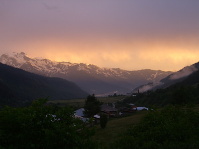 Sunset at Svaneti - Svaneti, Georgia