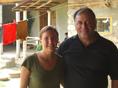 Svan Man and Audrey - Svaneti, Georgia