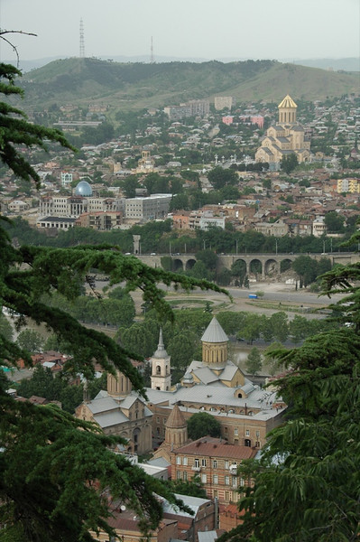 Aerial View of Tbilisi from Kartis Deda - Tbilisi, Georgia