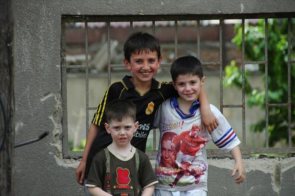 Young Boys as Football Fans - Tbilisi, Georgia
