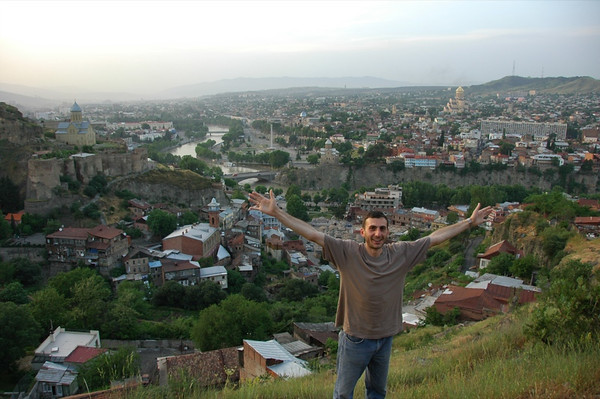 Man Standing on the Hill - Tbilisi, Georgia