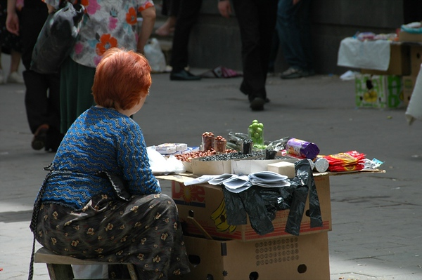 Lady Street Vendor - Tbilisi, Georgia