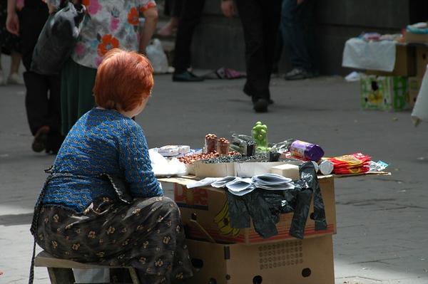 Lady Street Vendor - Tbilisi, Georgia