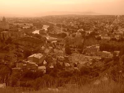 Aerial View of Tbilisi - Tbilisi, Georgia