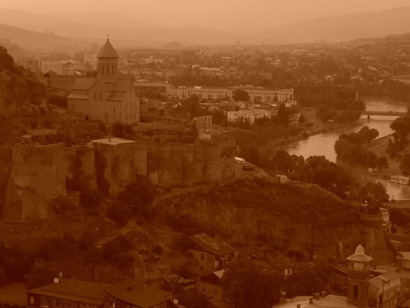 Narikala and the Mktvari River - Tbilisi, Georgia