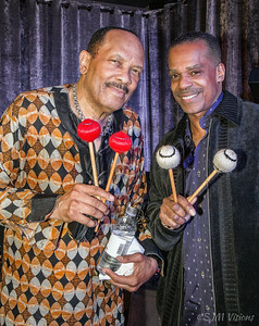 Roy Ayers (left) with Lem Adams