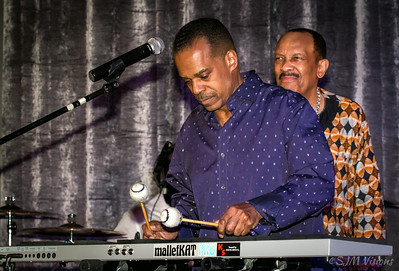 Lem Adams (left) with Roy Ayers