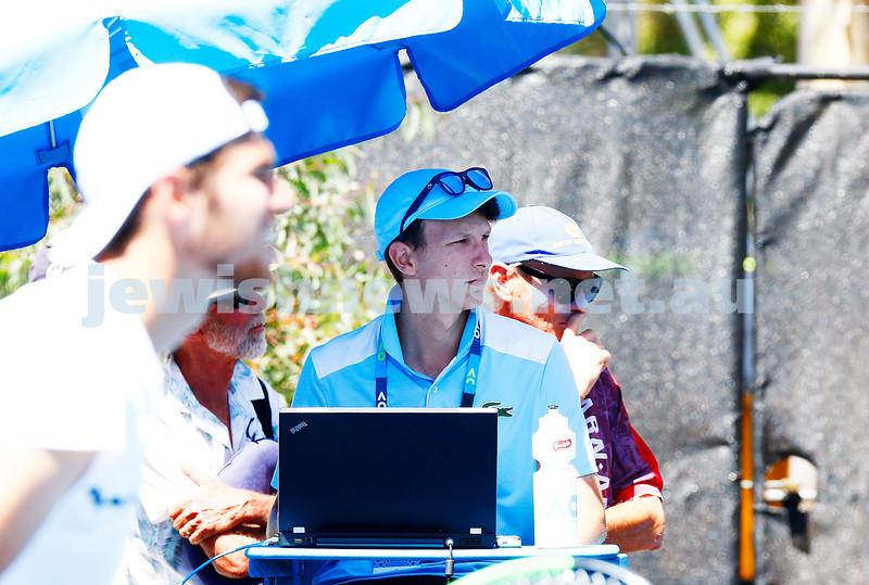 19-1-17. Australian Open 2017. Liam Gruber. Statistics. Photo: Peter Haskin