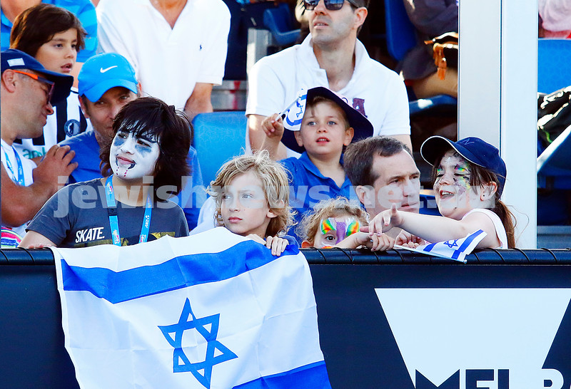 28-1-17. Australian Open 2017. Junior Boys final. faces and flags in the crowd. photo: peter haskin