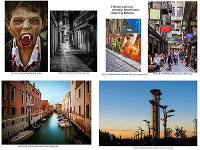 1 February Laneways ands Alleys Print Winners