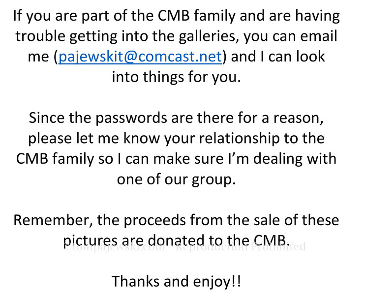 Microsoft Word - If you are part of the CMB family and are having trouble getting into the galleries.docx
