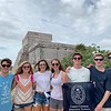 Ric Philpot, Camille Hollis, Mary Philpot, Sara Grace Sierra, Mac Ridgeway, William Heidtman, and Hayden Brown in Tulum, Mexico.