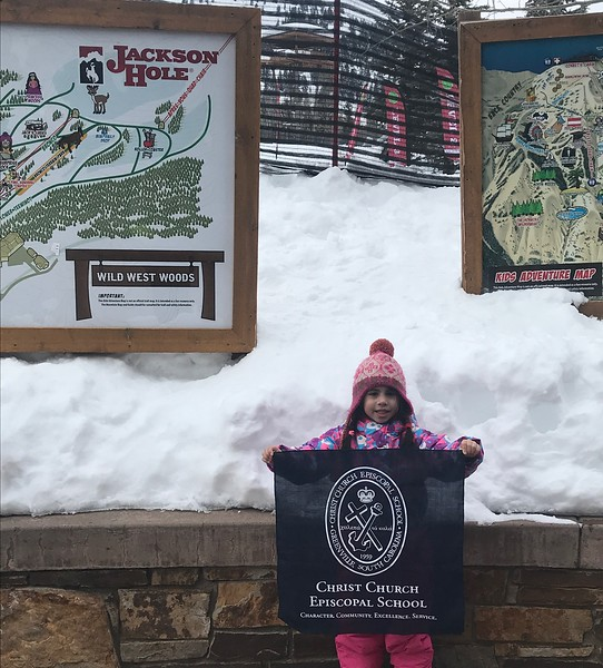 Lively Block, CCES Class of 2031, at Jackson Hole Ski Resort.