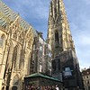 Upper School Choir and Band students outside St Stephens Cathedral in Vienna.