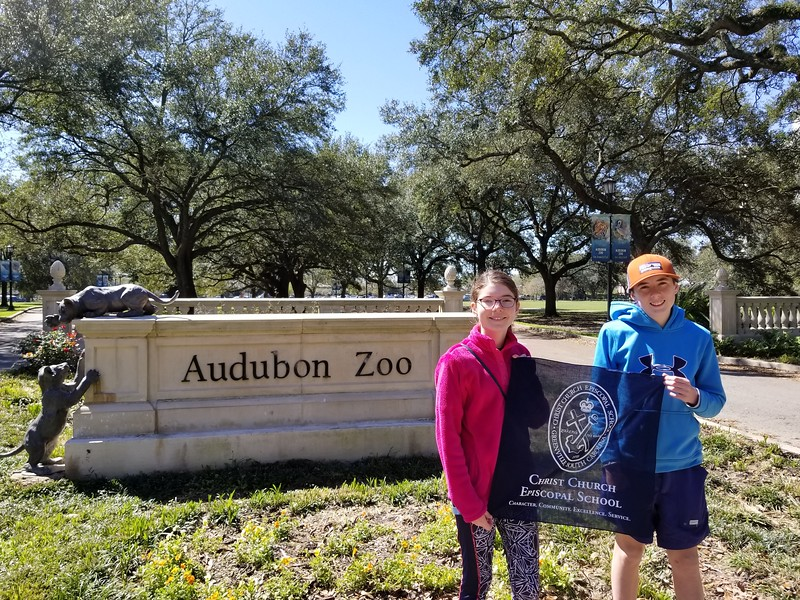 The Kuenns at the Audubon Zoo in New Orleans