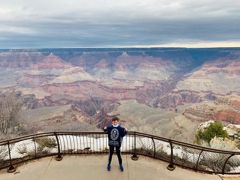 4th grader Holden Hughes at the Grand Canyon