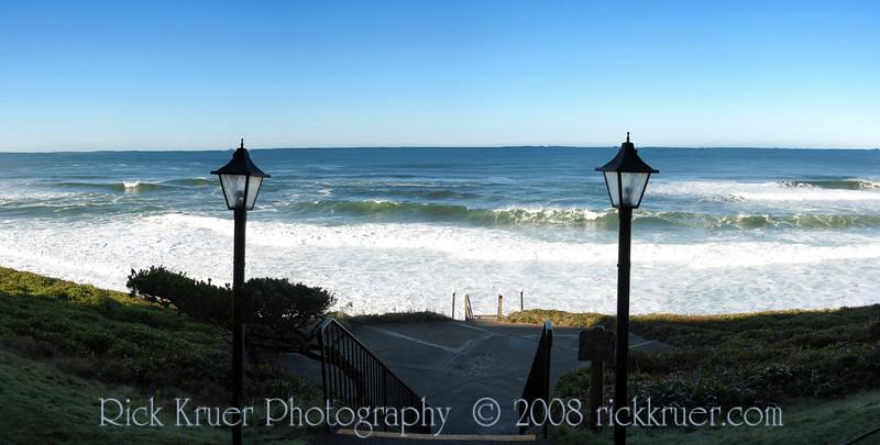 Cavalier Condo Walkway to Ocean<br /> November 2008<br /> <br /> Copyright © 2008 Rick Kruer<br /> rickkruer.com<br /> <br /> D200_20081123_1124_DSC_7740--7743-CavWalkwayPan-2.psd