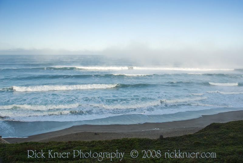 Foggy Ocean View from the Cavalier Condo Balcony<br /> November 2008<br /> <br /> Copyright © 2008 Rick Kruer<br /> rickkruer.com<br /> <br /> xxxphotoname