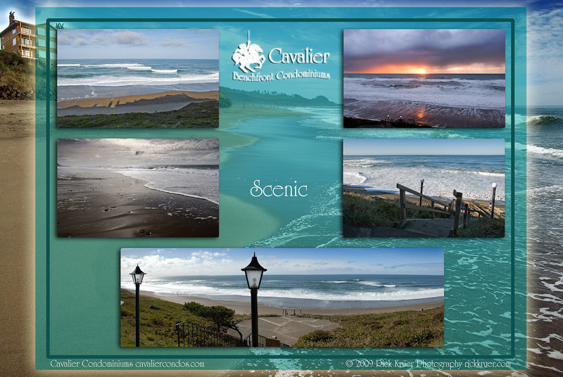 "Montage of ""Scenic1 - Cavalier Beachfront Condominiums, Gleneden Beach, Oregon"" photos: background is 8047-5227, from upper left to right: 0076, 9603, 1655, 7689, 1586--1588.<br /> <br /> March, July 2009<br /> <br /> Copyright © 2009 Rick Kruer rickkruer.com (rick@kruer.name)<br /> <br /> MONTAGE-CavalierCondo-Scenic1-D200_July2009-DSC_8047-5227_0076_9603_1655_7689_1586--1588-4.psd"