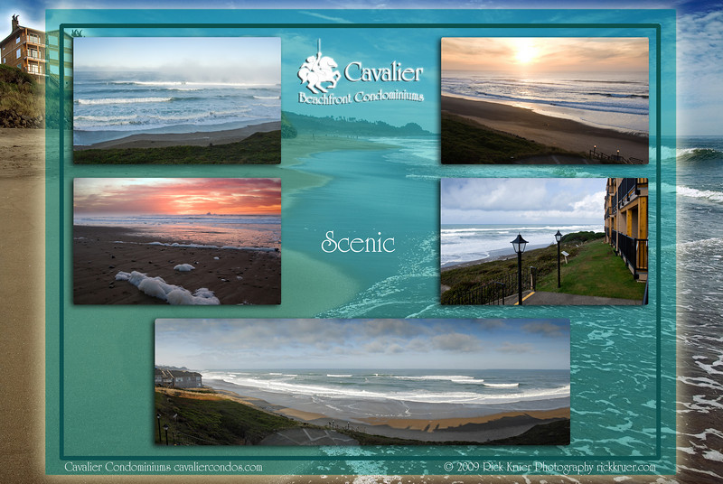 "Montage of ""Scenic2 - Cavalier Beachfront Condominiums, Gleneden Beach, Oregon"" photos: background is 8047-5227, from upper left to right: 8016, 7778, 8129, 9832, 0073--0076.<br /> <br /> March, July 2009<br /> <br /> Copyright © 2009 Rick Kruer rickkruer.com (rick@kruer.name)<br /> <br /> MONTAGE-CavalierCondo-Scenic2-D200_July2009-DSC_8047-5227_8016_7778_8129_9832_0073--0076-4.psd"