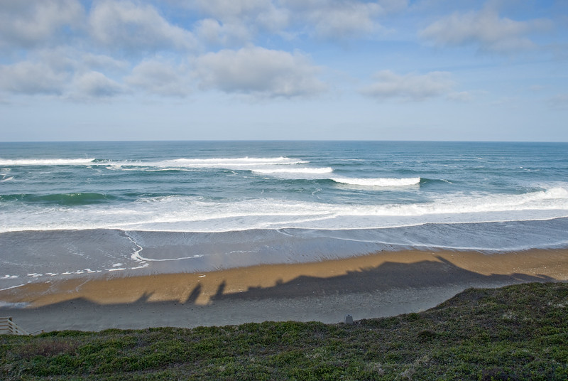Cavalier Condo shadow on beach - Ocean View<br /> March 2009<br /> <br /> Copyright © 2009 Rick Kruer<br /> rickkruer.com<br /> <br /> D200_20090318_0937_DSC_0076-CavalierShadowOnBeach-nice-2.psd