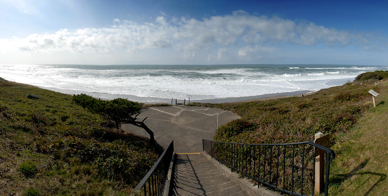 Cavalier Condo Ocean View from Stairs<br /> March 2009<br /> <br /> Copyright © 2009 Rick Kruer<br /> rickkruer.com<br /> <br /> D200_20090317_1512_DSC_9853-CavalierOceanViewStairs-Pan-9853--9857-3.psd
