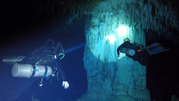 Cave Diving  in Abaco -- July 2018