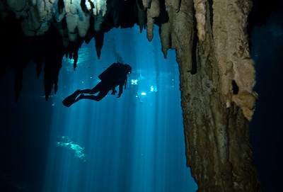 Diver in The Pit cavern