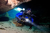 Rebreather diver enters LR
