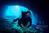 FFM Diver in Blue Grotto Cavern
