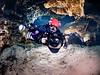 Underwater cave photographer