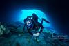 FFM diver deeper in Blue Grotto