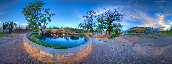 A 360 degree panoramic of the Santa Rosa Blue Hole Convention Center facility - by Curt Bowen