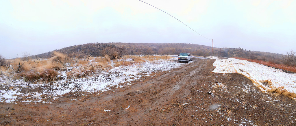 Fourteen months with zero precipitation and it snows, (MUD), rains, (MUD) snows, (MUD) ice, (MUD)  the first 24 hours on our arrival.