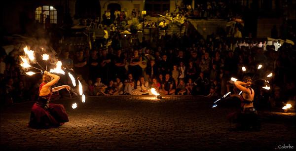 Foire médiévale de Souvigny 2012 - Les  spectacles de feu.