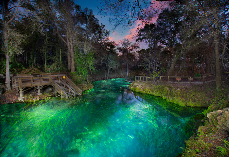 Madison Blue Springs on the Withlacoochee River in Madison County, Florida