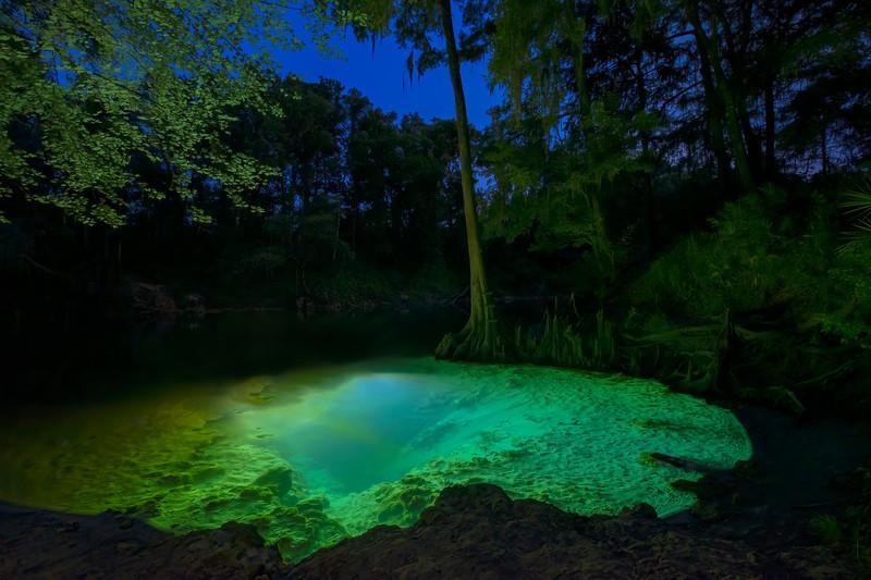 Pot Springs on the Withlacoochee River, Hamilton County, Florida