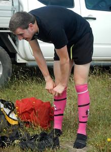 Andy's pink socks :-)