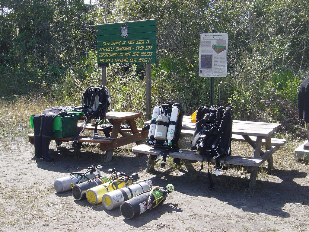 Our gear for 80m trimix dive in Eagle nest cave