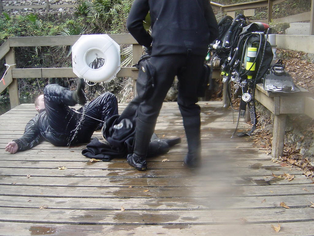 Always disconect condom catheter BEFORE asking someone to pull off your flooded drysuit :-)