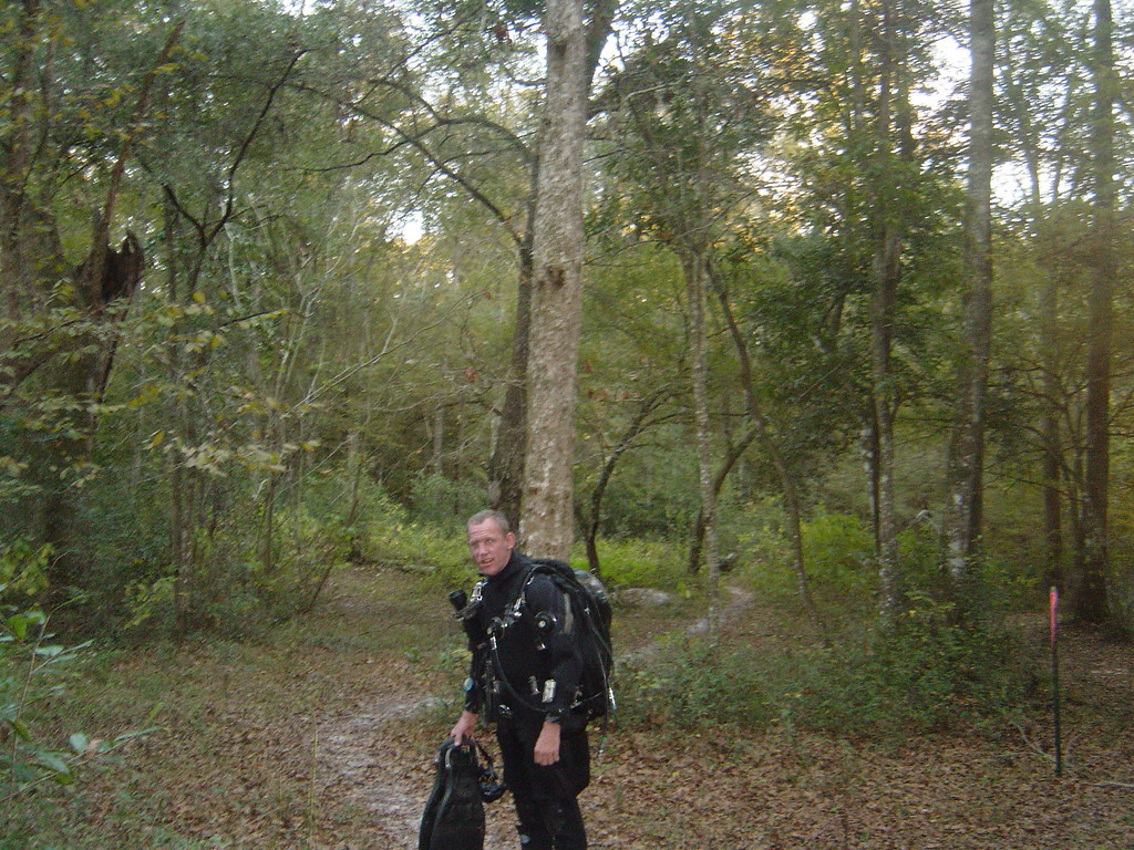 Just going for a forest hike (wearing my rebreather)