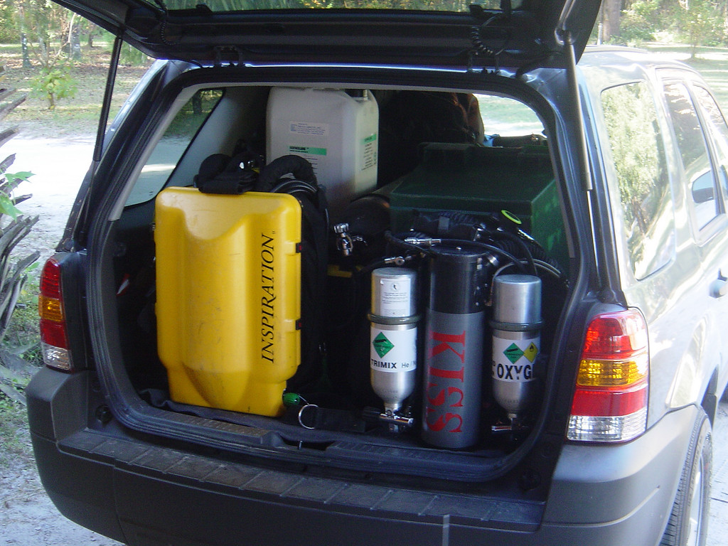 MK15.5, Inspiration, KISS three divers and assorted gear all stuffed into our little hire car all week