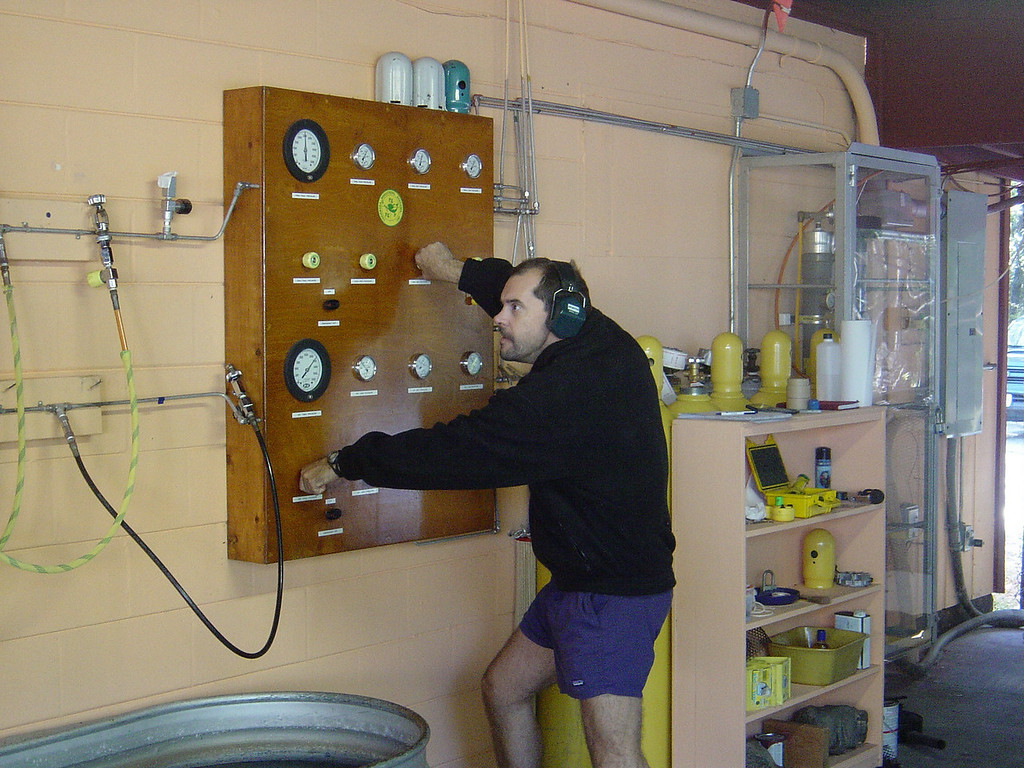 Crazy John filling our tanks