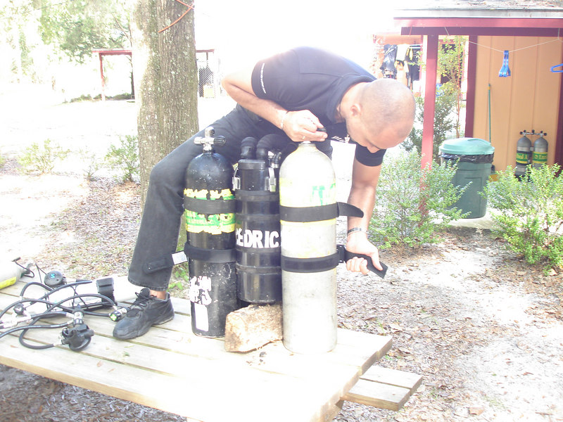 Cedric assembles the SuperMEG to test it out before our upcoming Thai cave expedition