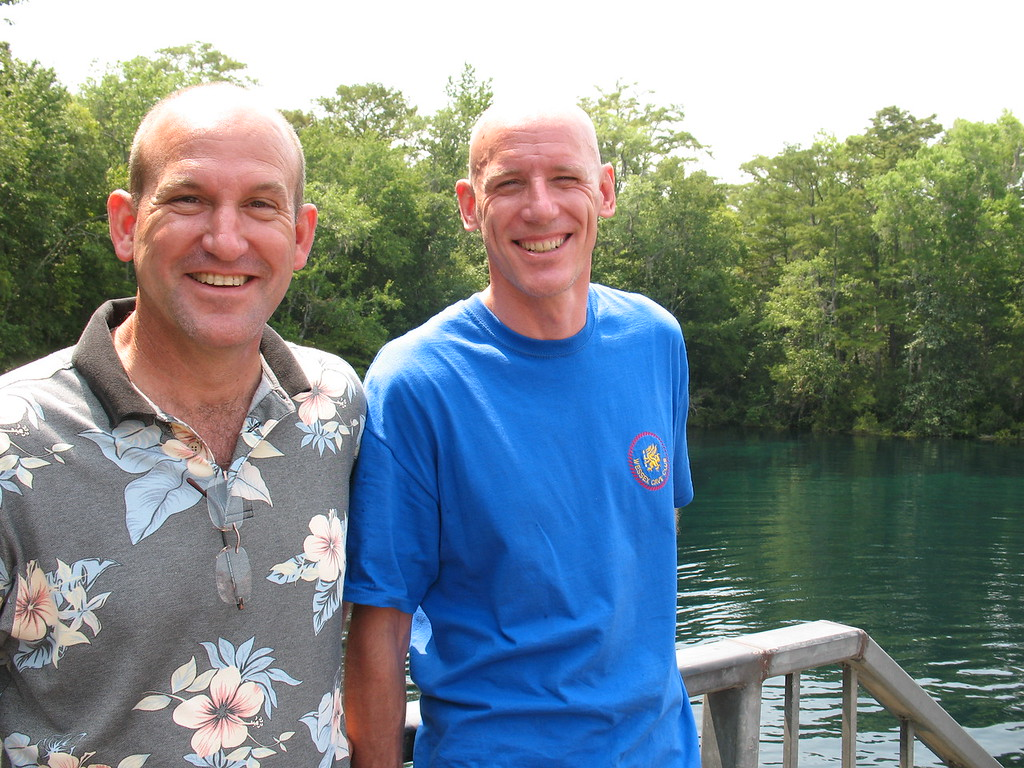 Me and Lamar English case wakulla springs. Hey someone tell Christine Im modeling a Wessex cave club T shirt and still hoping to get a CDG one :-)<br />  [pic courtesy of Agnes  Milowka]